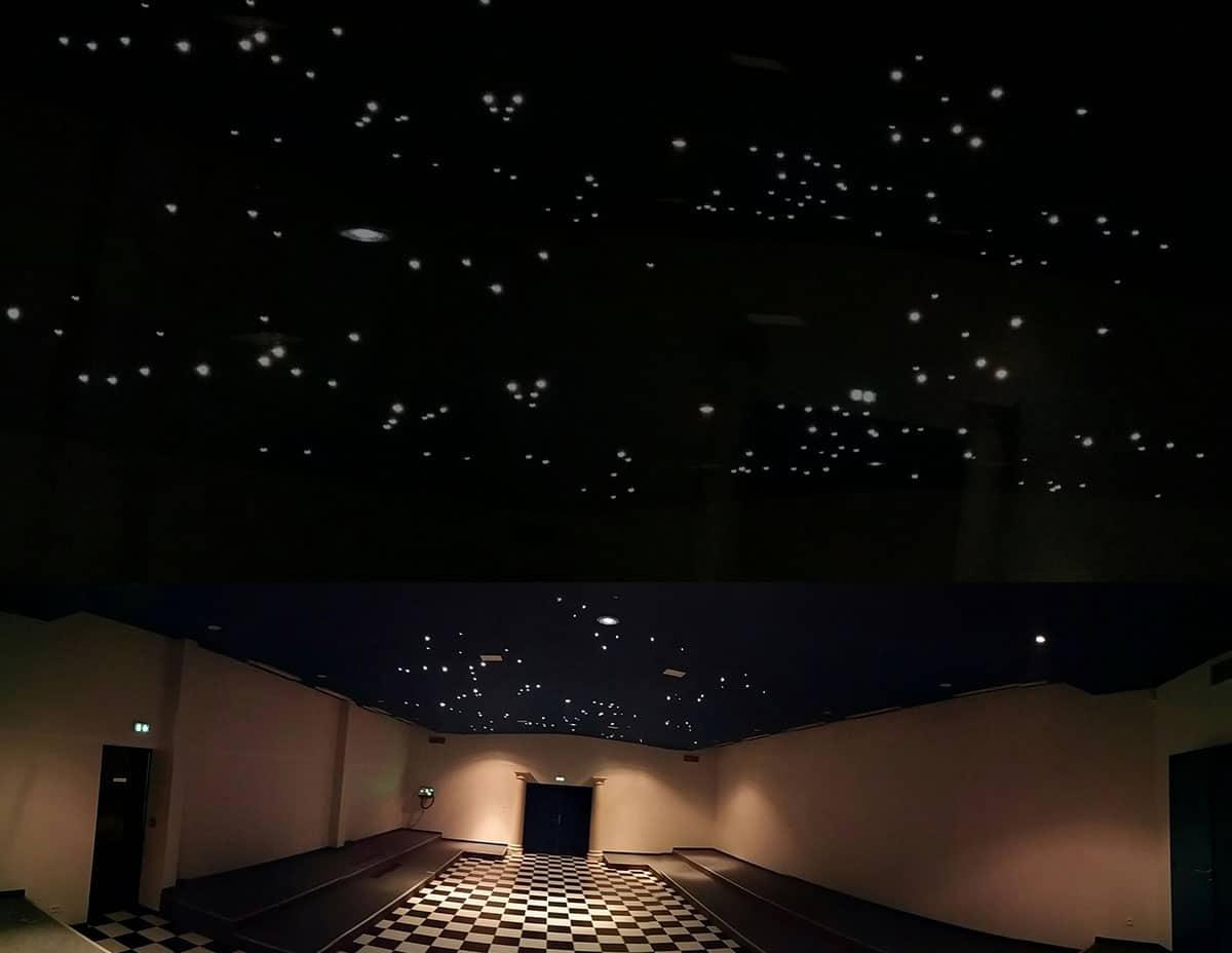 Création d'un plafond en LED par Amperiance