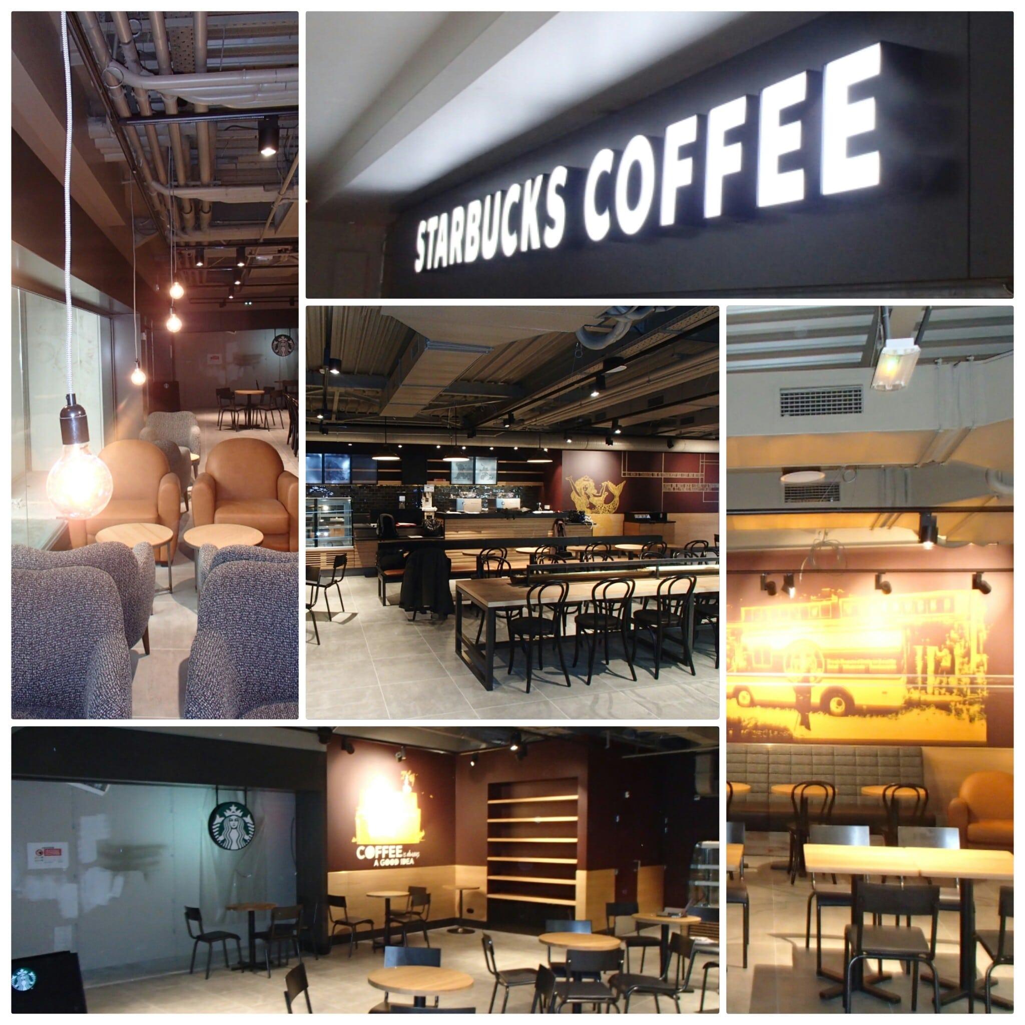 Starbucks éclairage par Amperiance