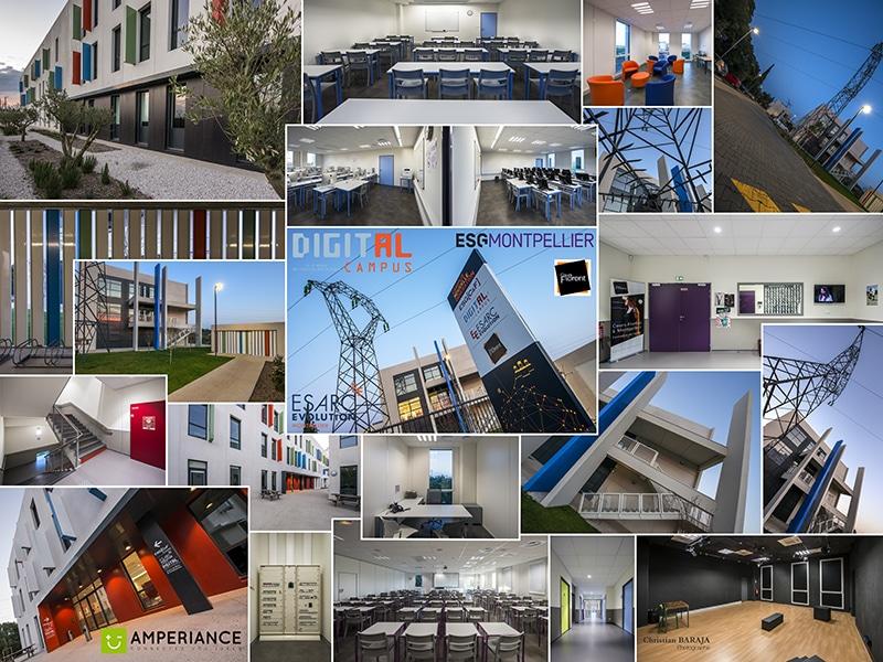 Nos électriciens sur le chantier du Digital Campus Montpellier